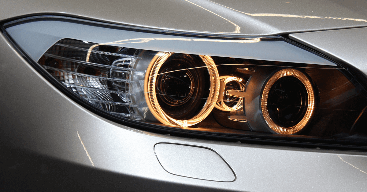 BMW headlight. Car headlights - LED lights