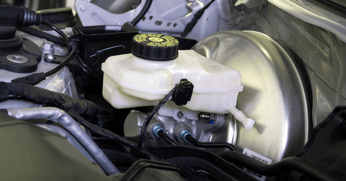 Car brakes - brake booster with brake master cylinder