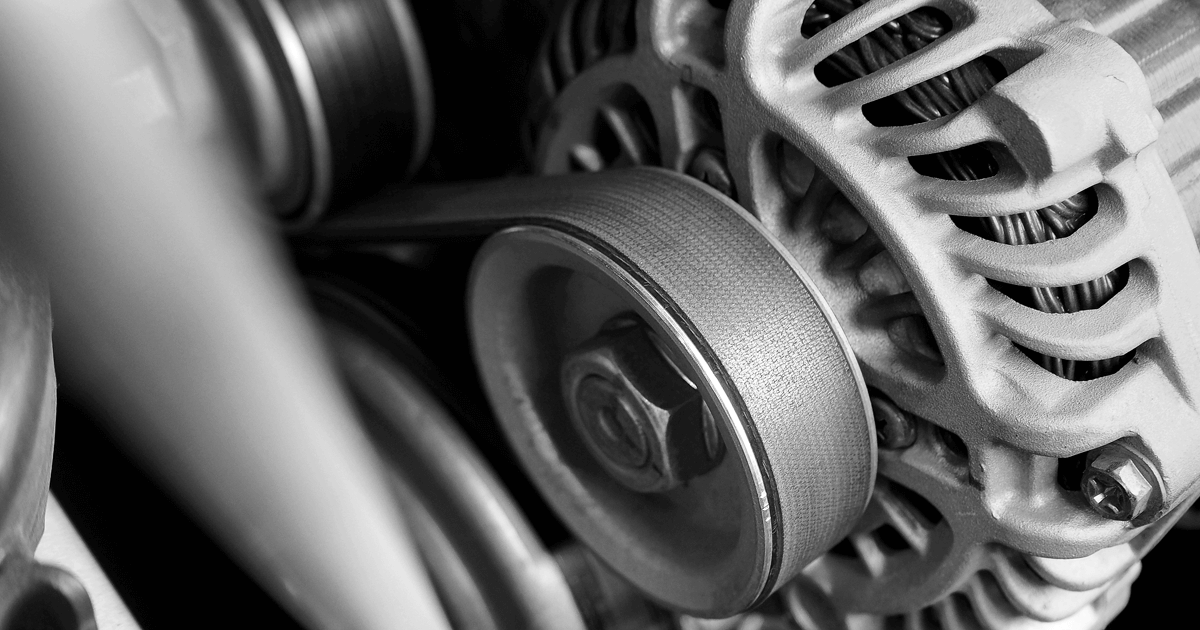 Car alternator and timimg belt - converting mechanical energy to electrical energy Inside a car
