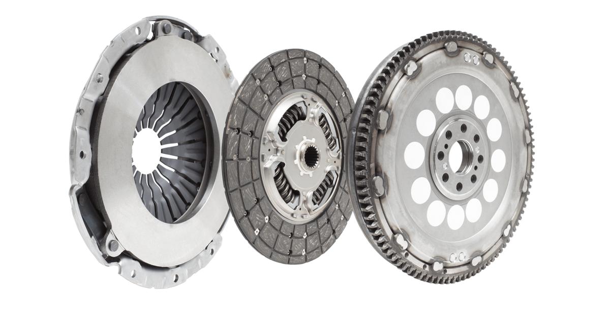 Car clutch repair kit - damping flywheel, drive and basket