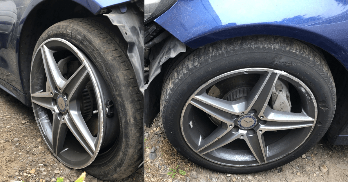 Mercedes Benz - Damaged alloy wheels