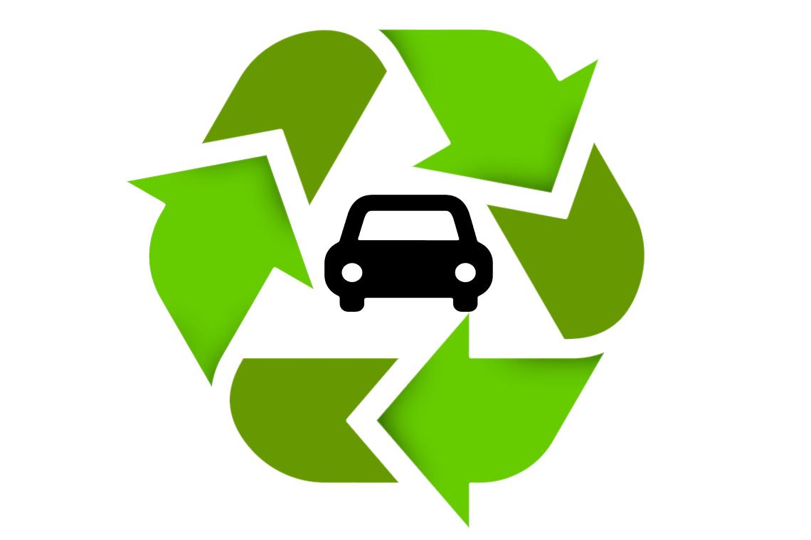 Motor Breaker - recycling symbol and car