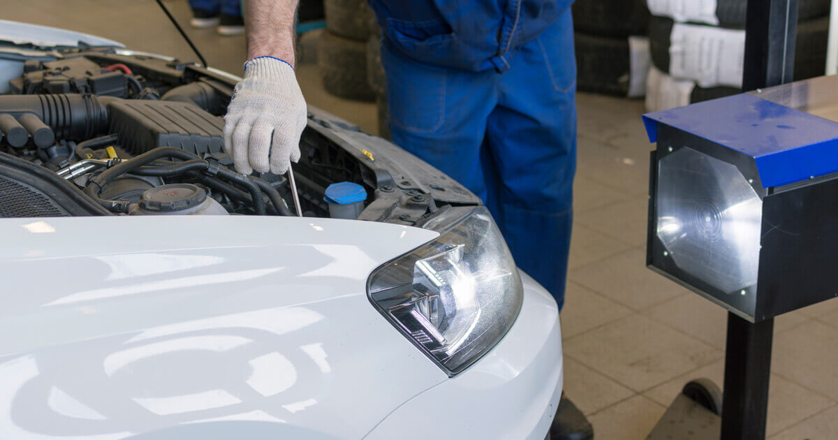 Car headlights - MOT check