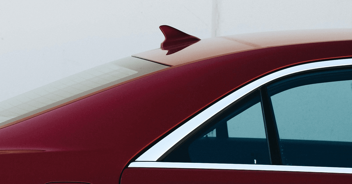 Car aerial - shark fin antenna