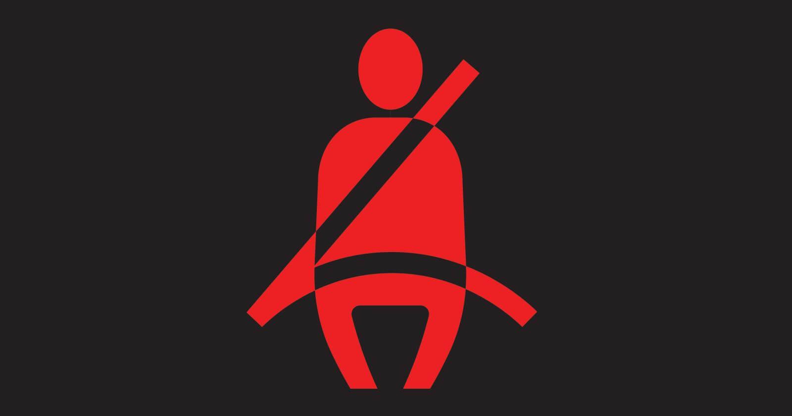 Car Dashboard Symbols - Seat Belt Reminder Warning Light