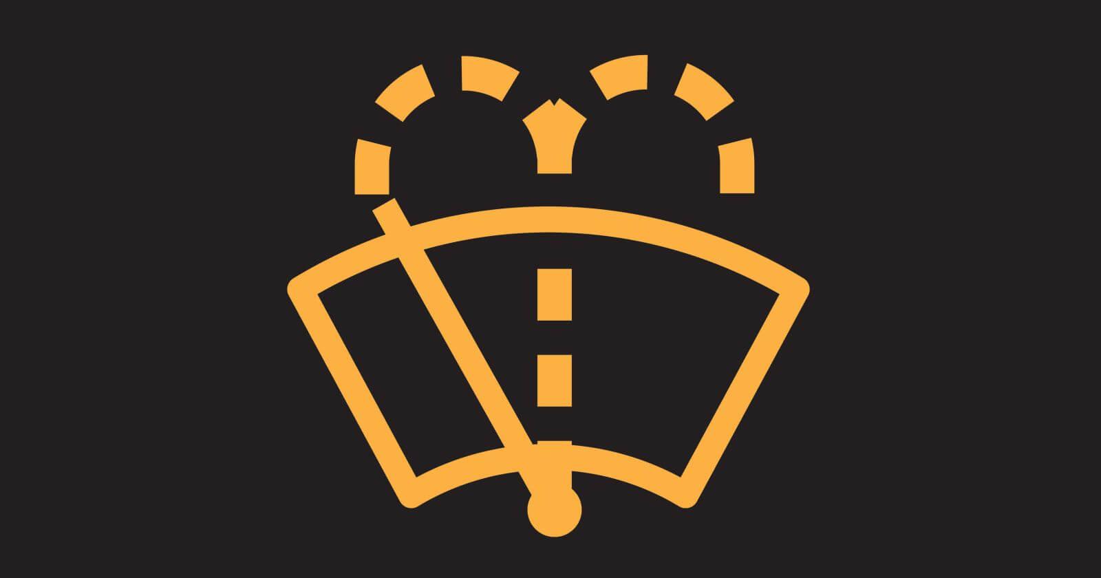 Car Dashboard Symbols - Washer Fluid Indicator